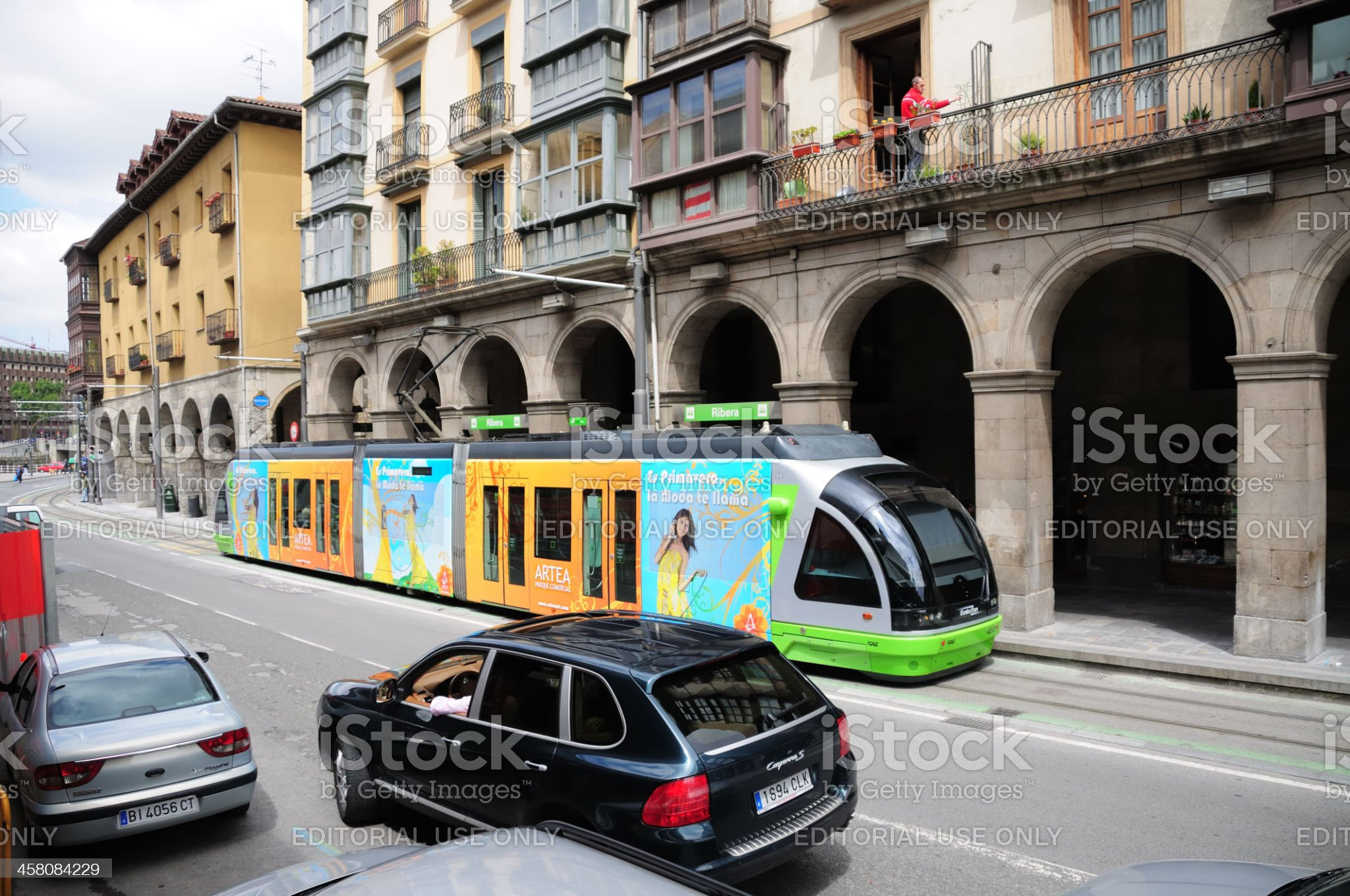 EuskoTran - Bilbao royalty-free stock photo