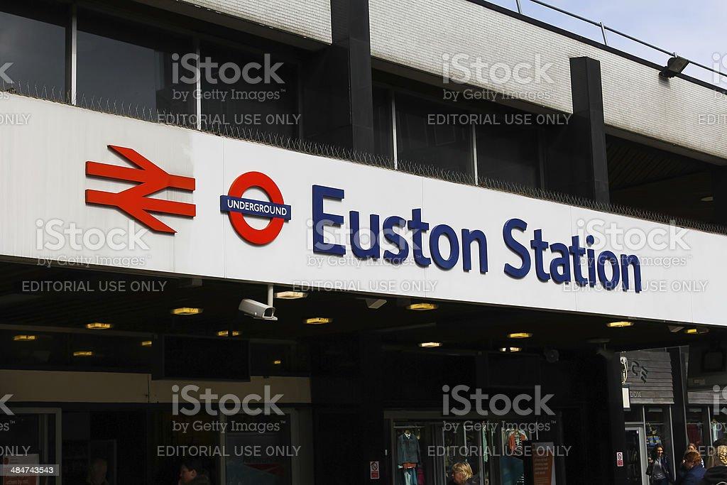 Euston Station London stock photo