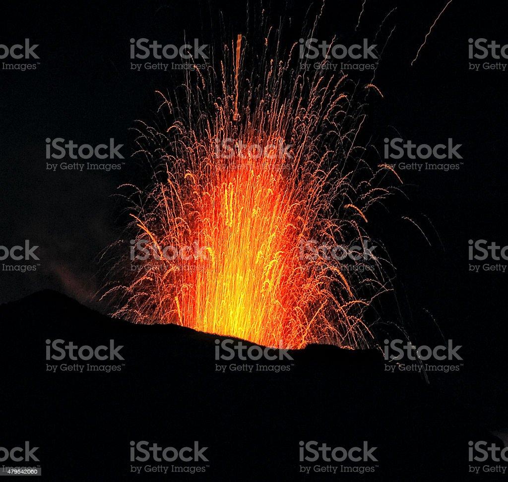 Euzione Stromboli stock photo