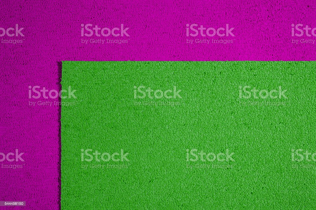 Eva foam apple green on pink stock photo