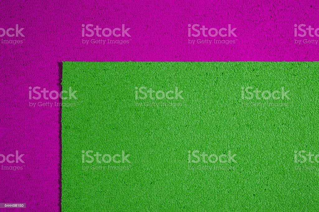 Eva foam apple green on pink stock photo