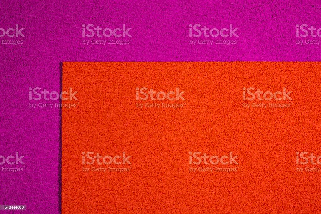 Eva foam orange on pink stock photo