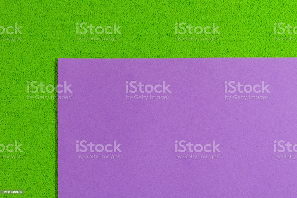 Eva foam smooth violet on apple green stock photo