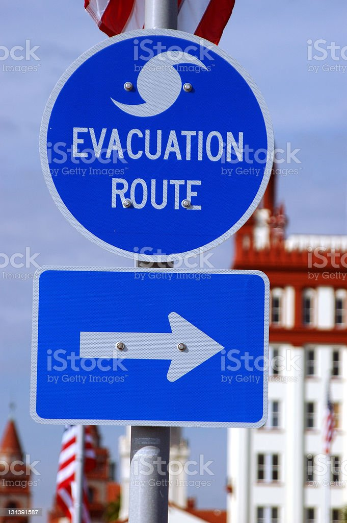 Evacuation Route royalty-free stock photo