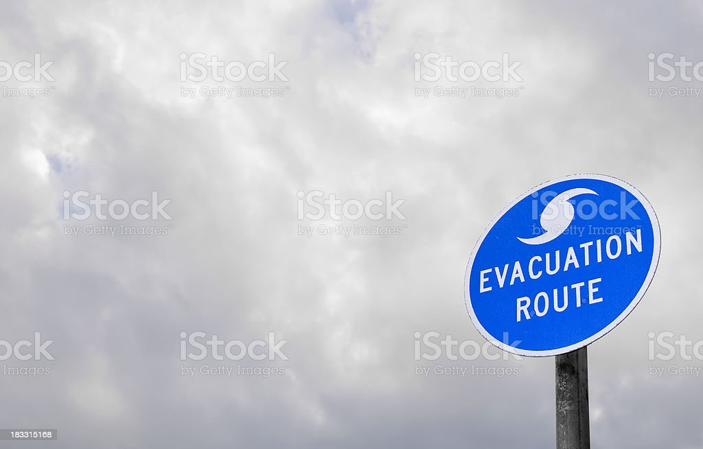 Evacuation Route stock photo