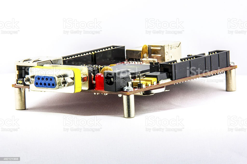 evaluation circuit board for education royalty-free stock photo