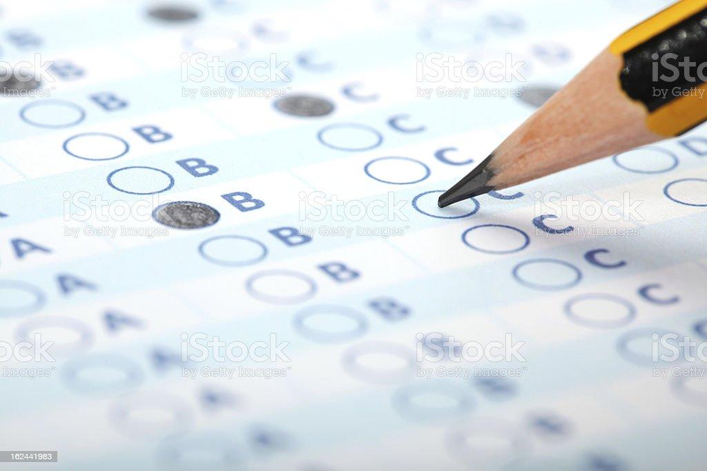 Evaluation form - Exam stock photo