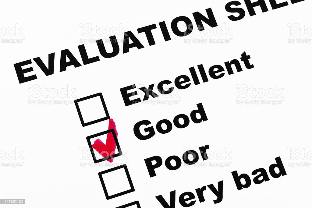 Evaluation royalty-free stock photo