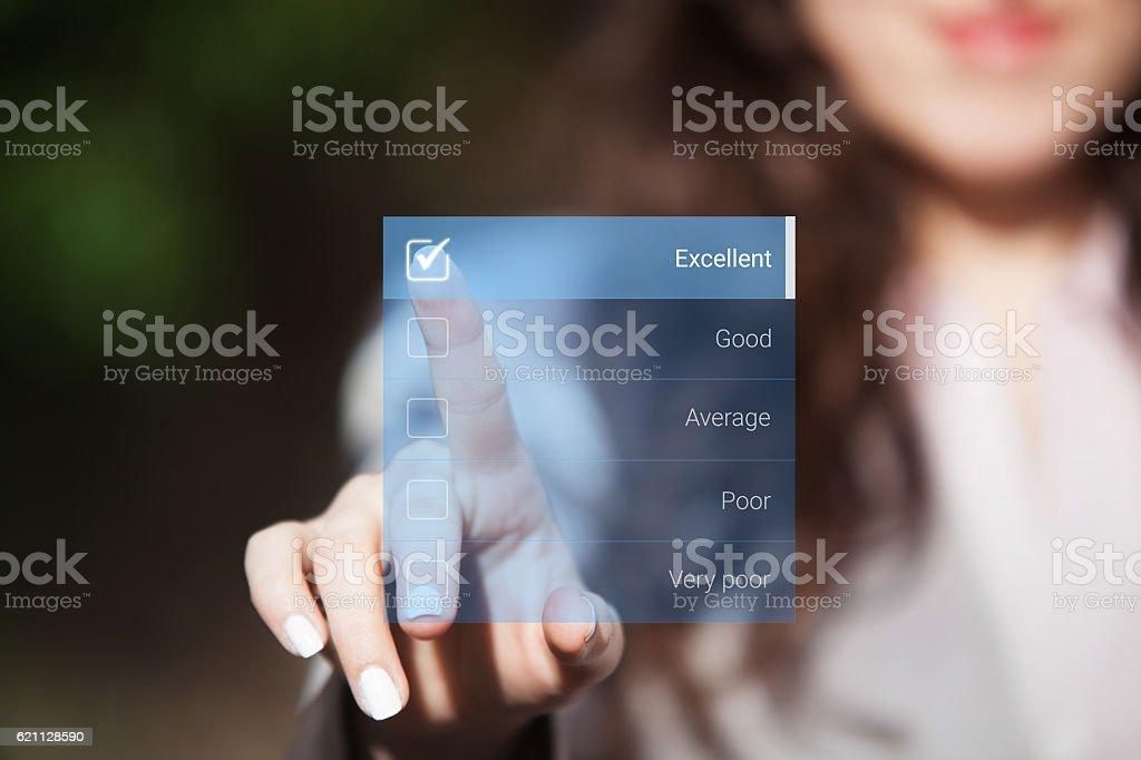 Evaluation rating. stock photo