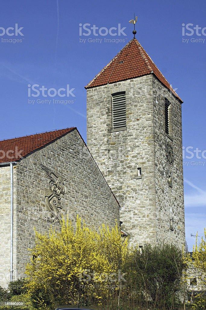 Evangelical Church in Bad Eilsen royalty-free stock photo