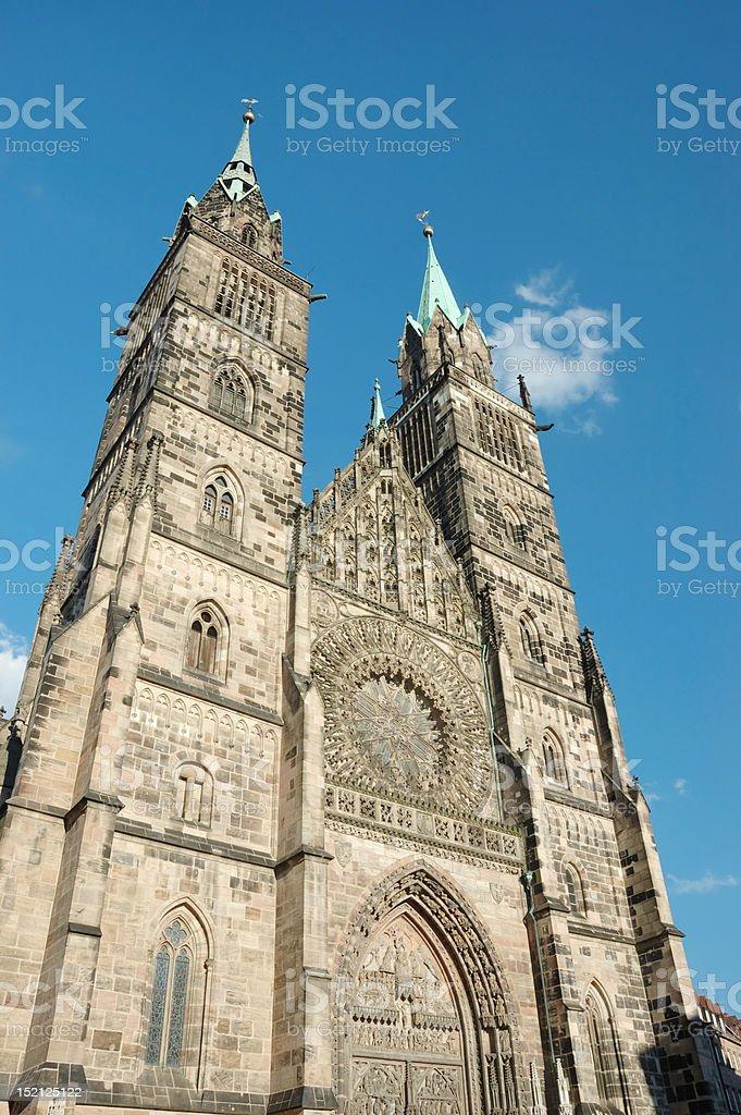 Evangelical Lutheran St.Lorenz  Church in Nuremberg,Bavaria,Germany stock photo