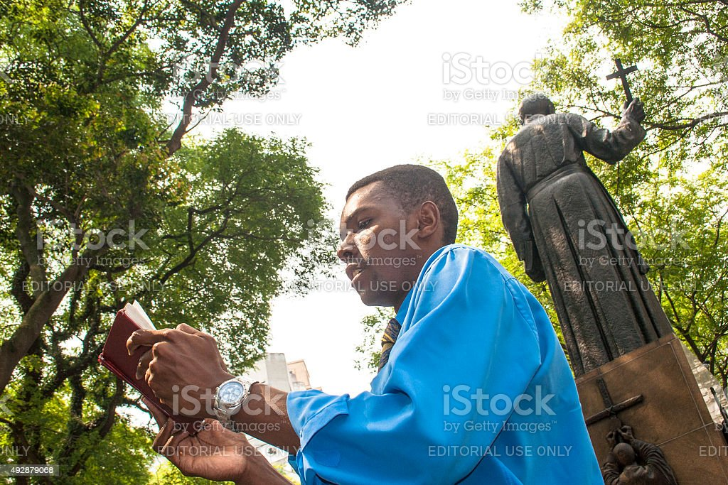 evangelical preacher stock photo