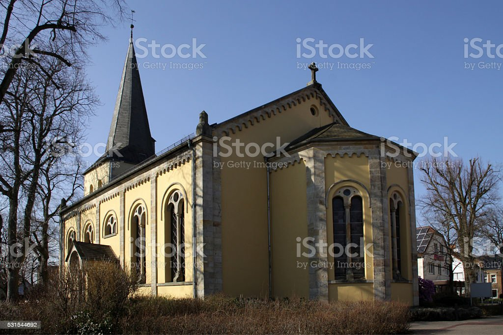 Evangelical Reformed Church in Schlangen (Lippe) stock photo