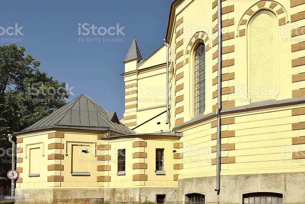 Evangelical-Lutheran Stt. Peter-and-Paul's Cathedral stock photo