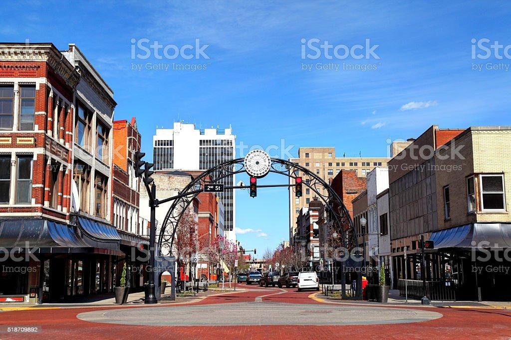Evansville, Indiana stock photo