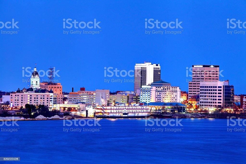 Evansville, Indiana Skyline stock photo