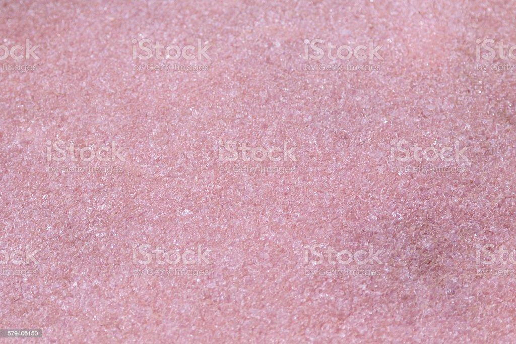 Evaporated salt lake, pink crystals at Coorong National park, Australia stock photo