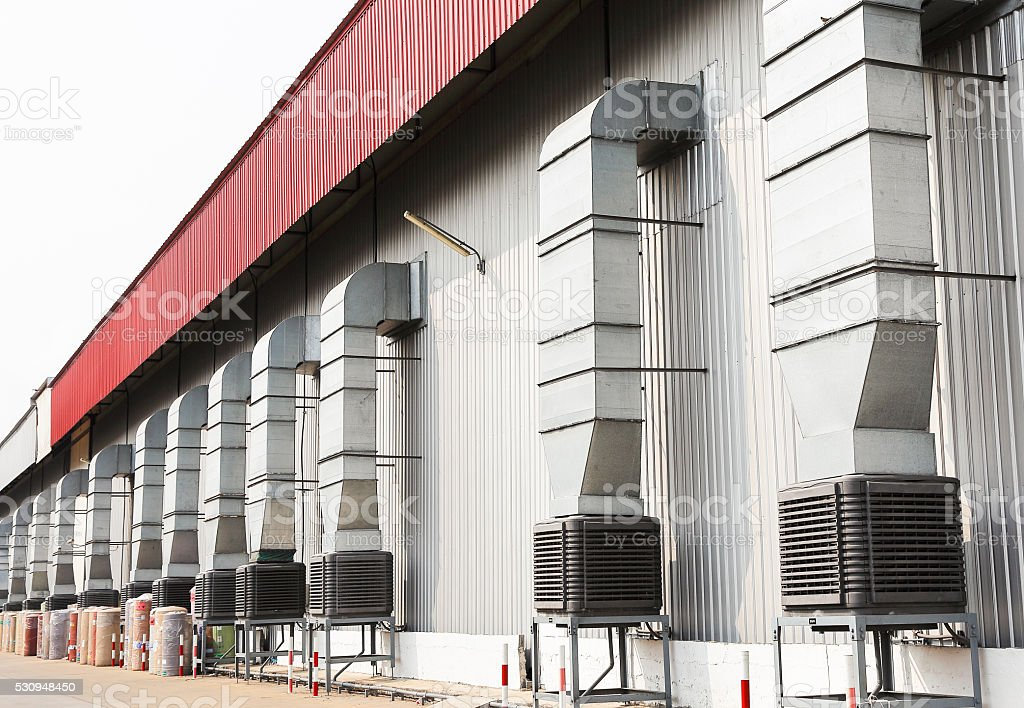 evaporative cooler stock photo