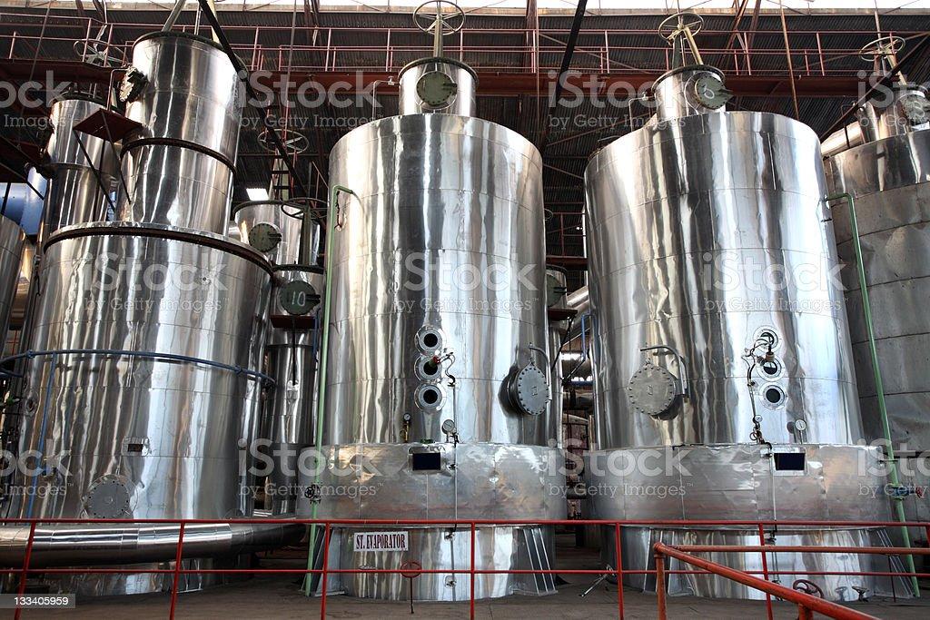 Evaporator equipment in a factory stock photo