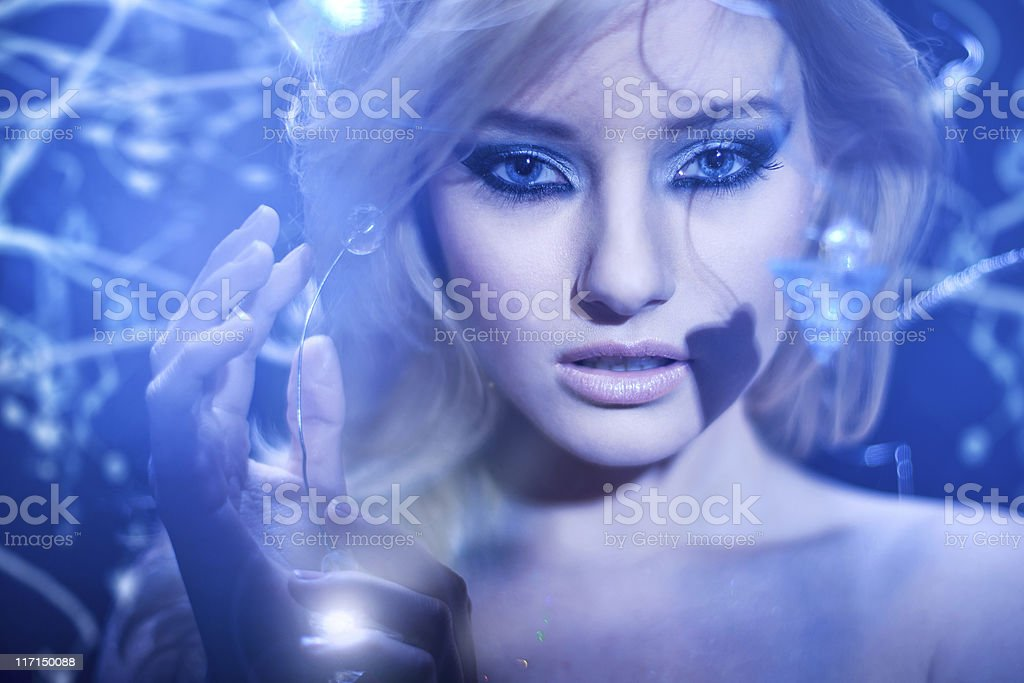 Eve in the future garden of eden royalty-free stock photo