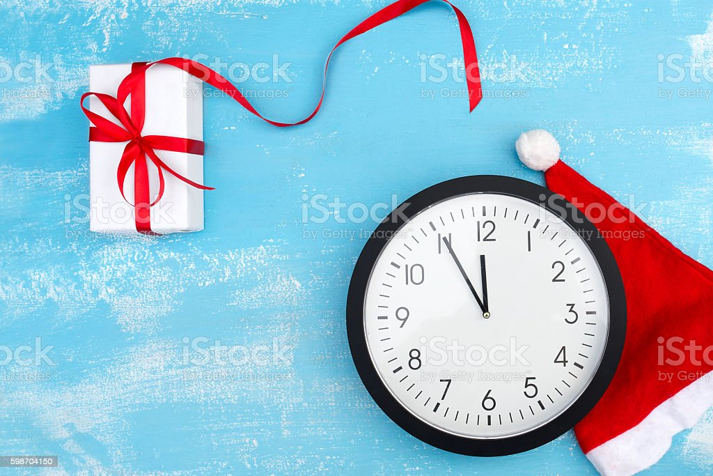 eve of new year or Christmas stock photo