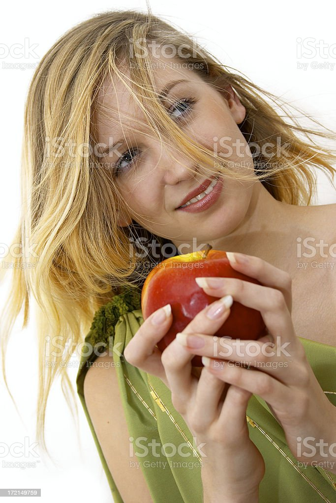 Eve with an apple royalty-free stock photo