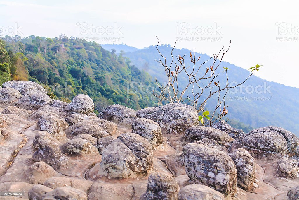 Eveing at Phu Hin Rong Kla National Park, Thailand stock photo