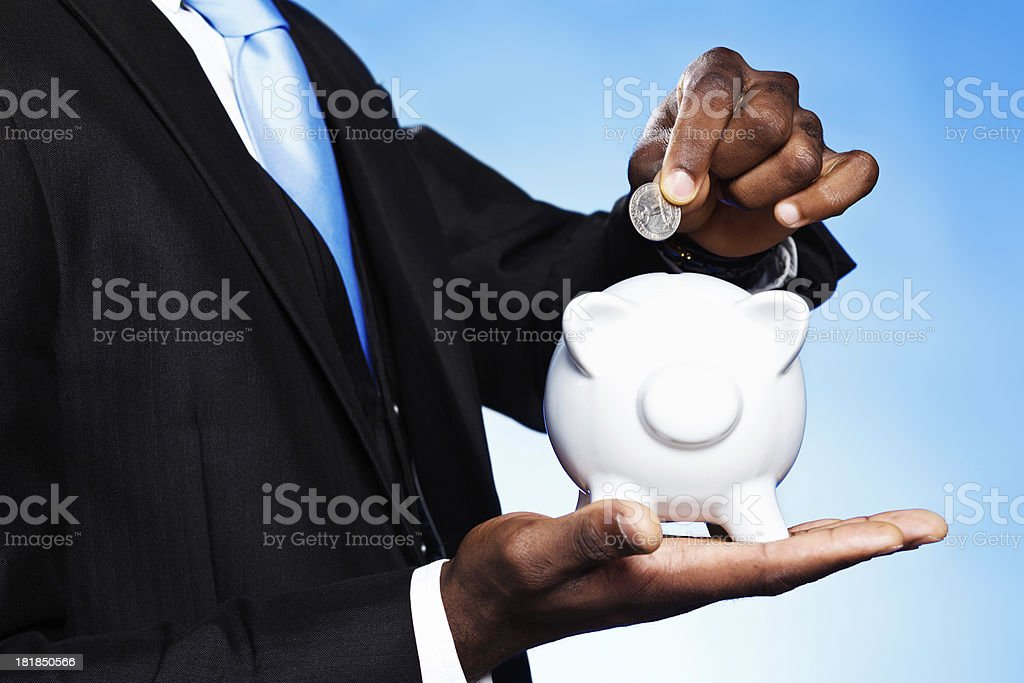 Even on a small scale, saving is good! royalty-free stock photo