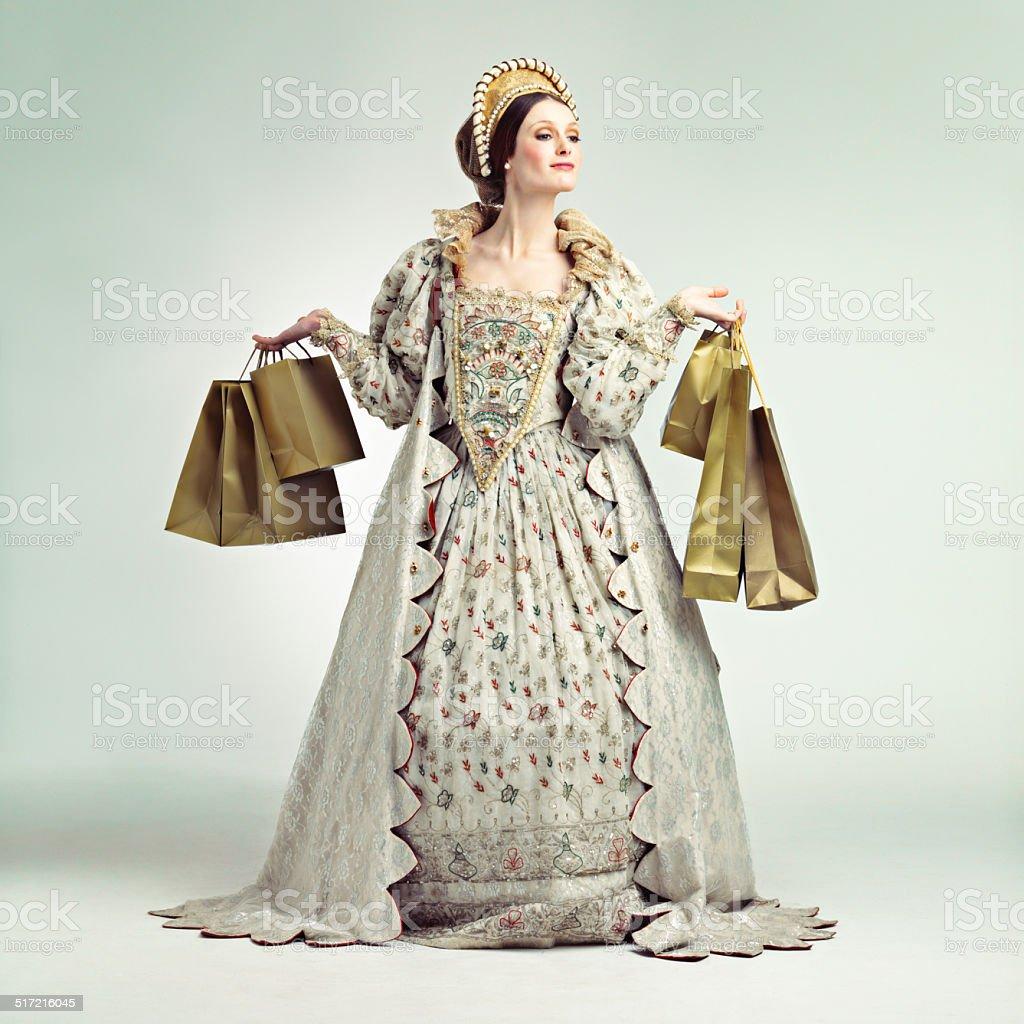 Even queens love shopping stock photo