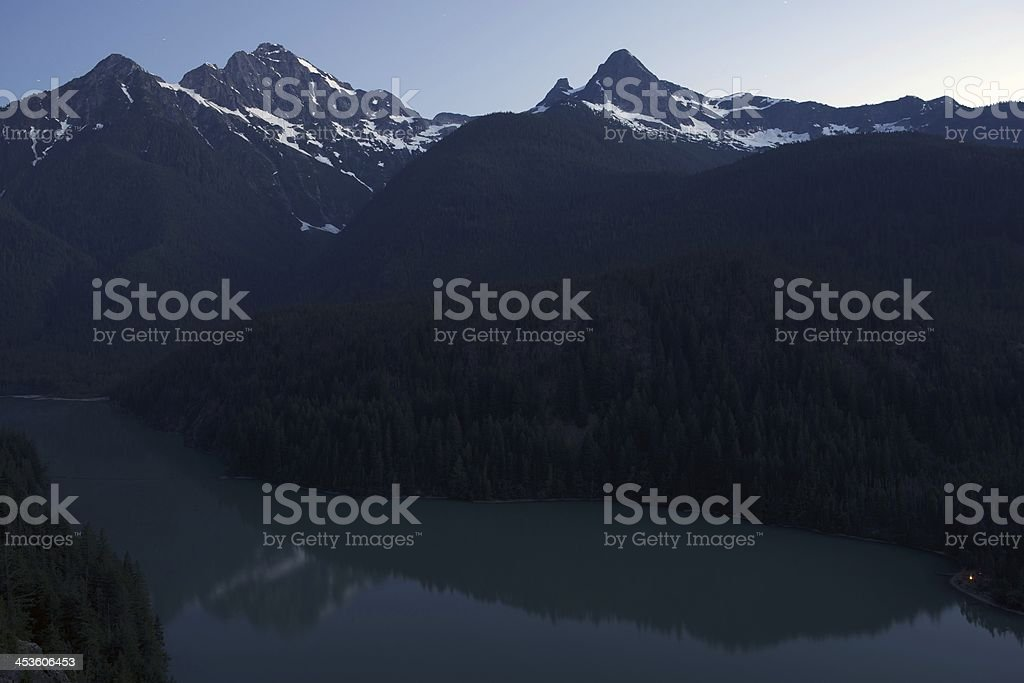 Evening at Diablo Lake stock photo