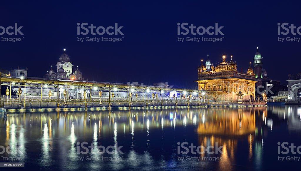 Evening at Harmandir Sahib stock photo