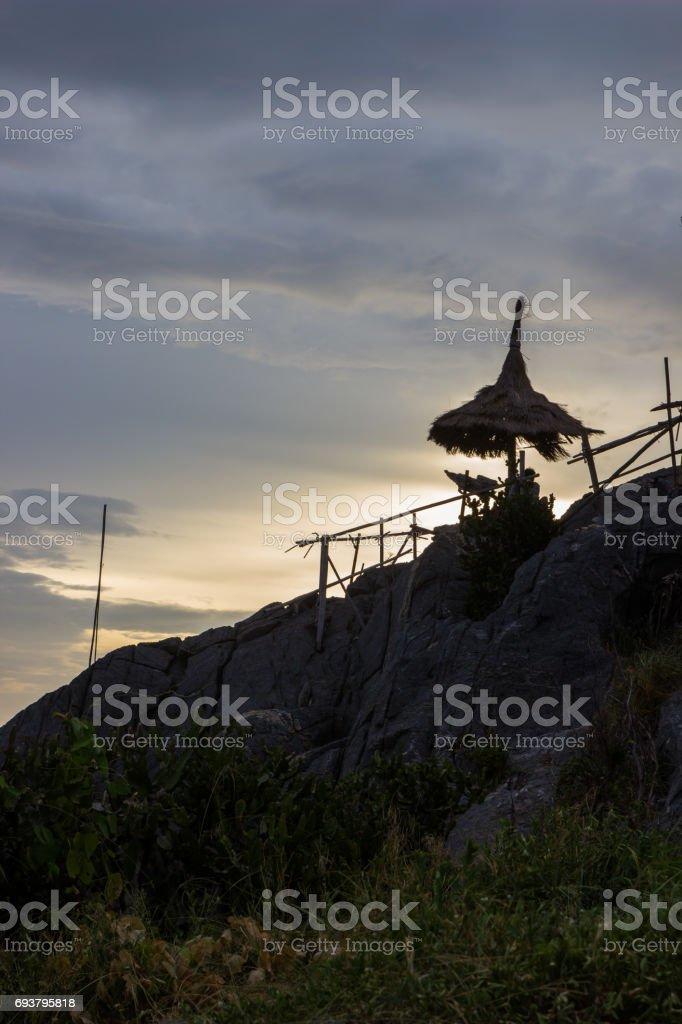 evening at Koh Sichang,Chonburi,Thailand stock photo