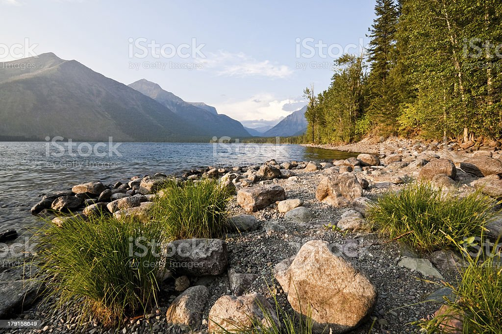 Evening at Lake McDonald royalty-free stock photo
