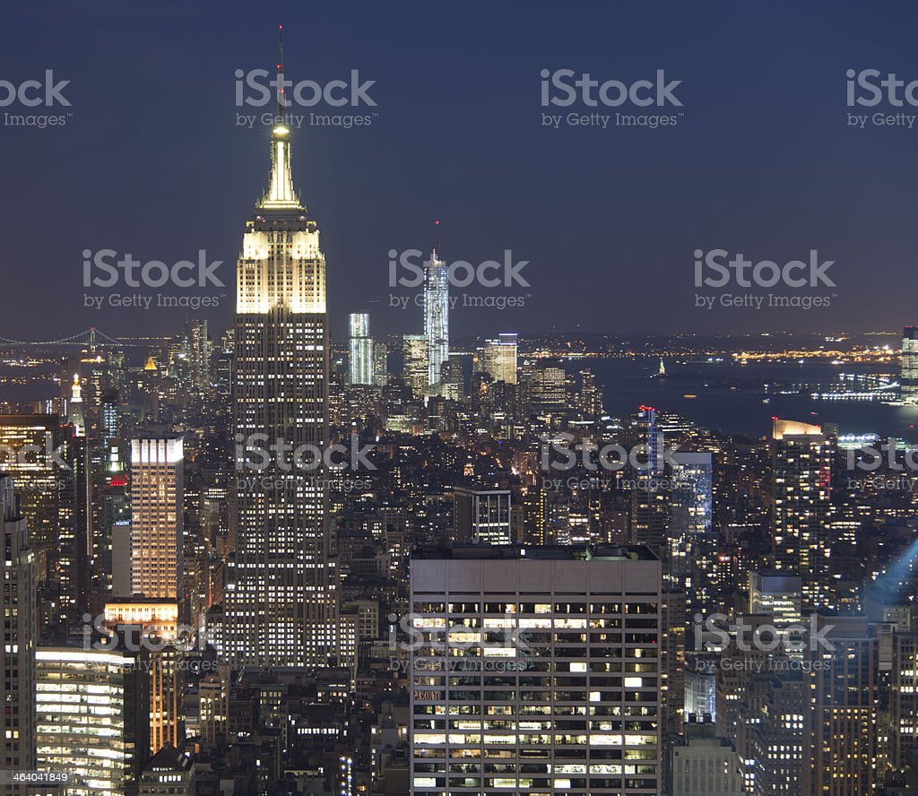 Evening at Manhattan New York City royalty-free stock photo