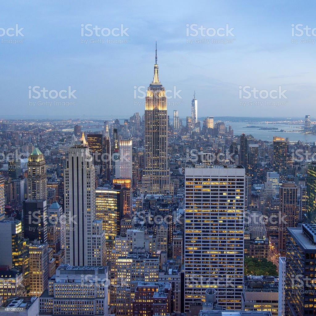 Evening at Manhattan New York City royalty-free stock photo