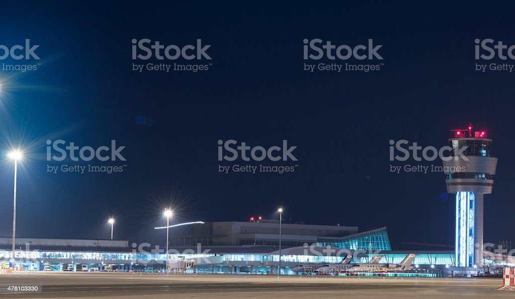 Evening at the Airport stock photo
