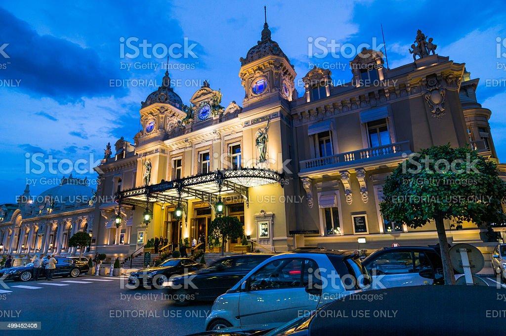 Evening at the Monte Carlo Casino stock photo