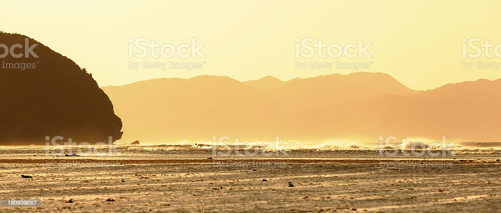 Evening at the Pacific Ocean royalty-free stock photo