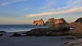 Evening at Wharariki Beach