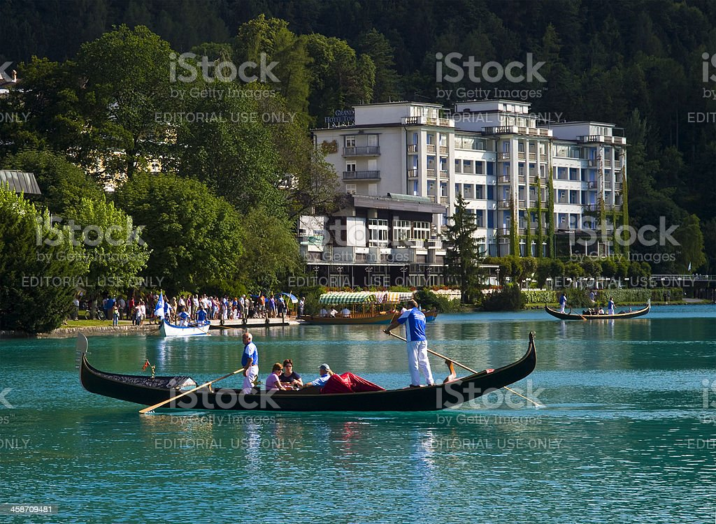 Evening Bled royalty-free stock photo
