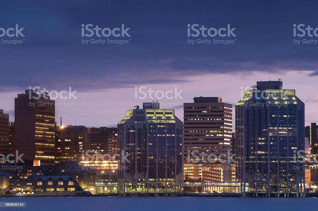 Evening city skyline royalty-free stock photo