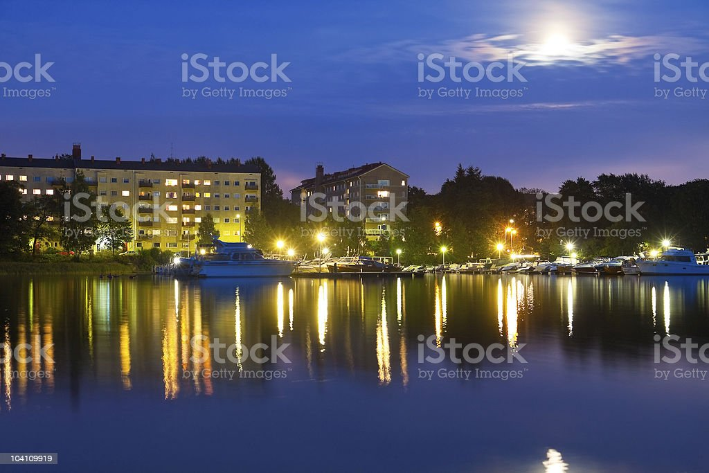 Evening cityscape of Helsinki, Finland royalty-free stock photo