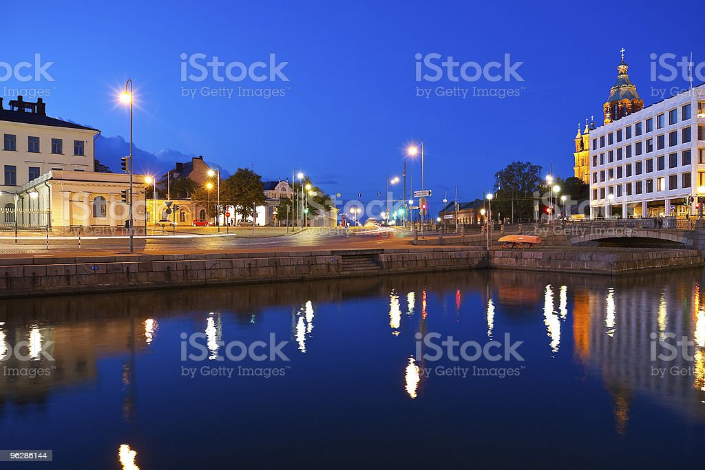 Evening cityscape of Helsinki, Finland royalty-free stock photo