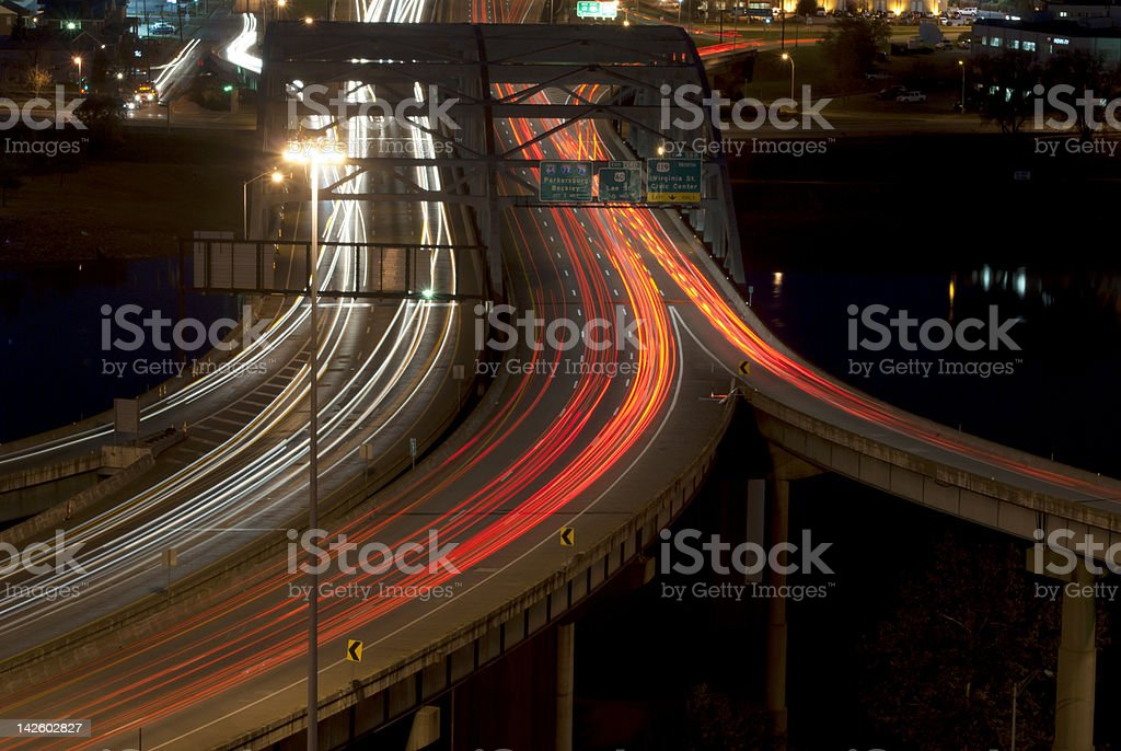 Evening Commute in Charleston, West Virginia stock photo