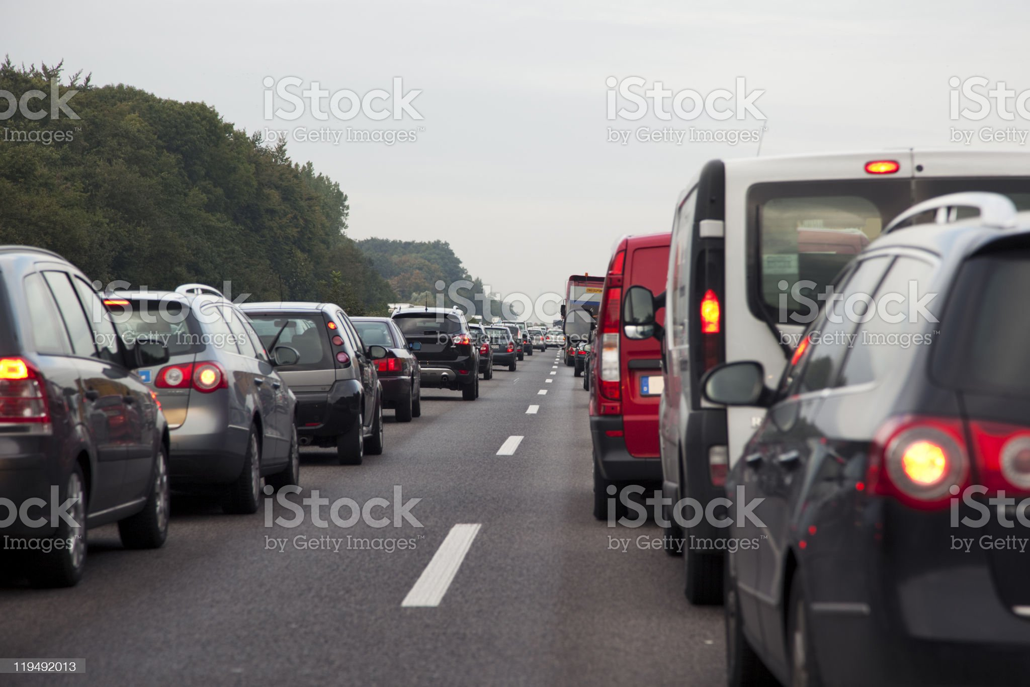 evening commute royalty-free stock photo
