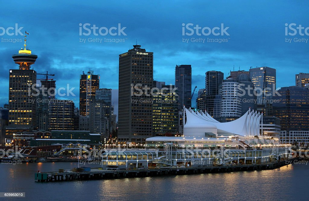 Evening Cruise Port of Vancouver 9330 stock photo
