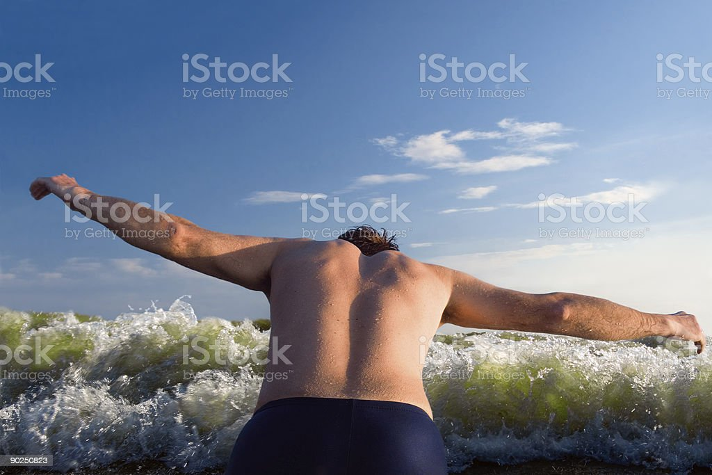 Evening diver royalty-free stock photo