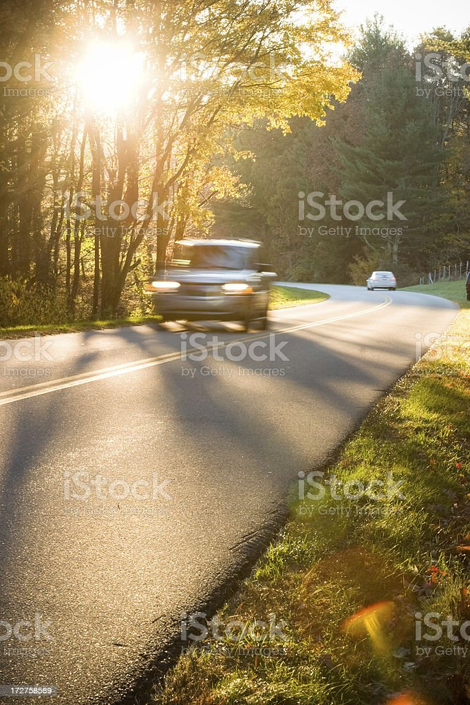 Evening Drive stock photo