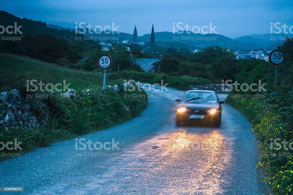 Evening Drive stock photo