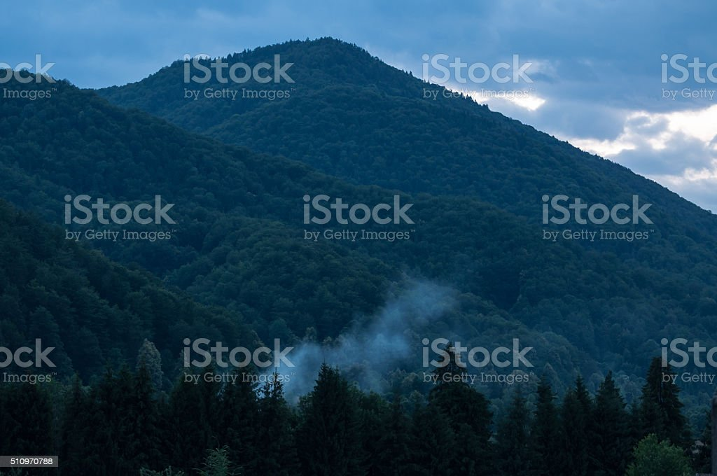 evening escape place at the mountain royalty-free stock photo